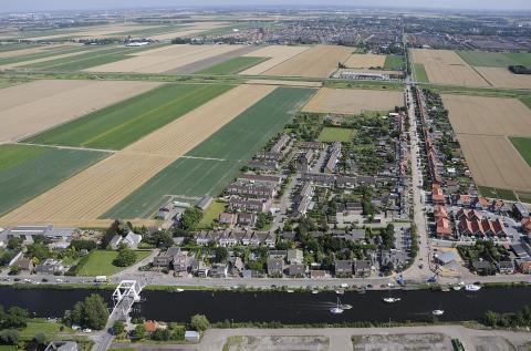 Luchtfoto van Beinsdorp (foto: Kees van der Veer)