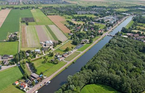 luchtfoto Zwaanshoek (foto: Kees van der Veer)