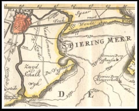 kaart Vijfhuizerpolder